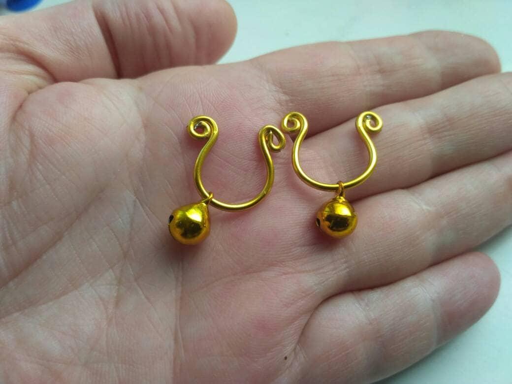 BDSM Slave Bells Non Piercing Nippel Ringe gold Jingle   Etsy