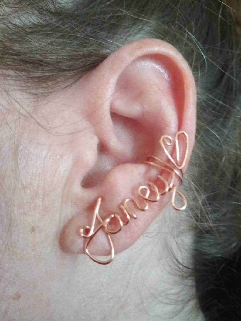 d852821e3b346f Personalized Name earrings, Custom jewelry Earcuff, Novelty Jewelry, Ear  Name, Valentine's Clip on Name, Custom Best friend gift idea