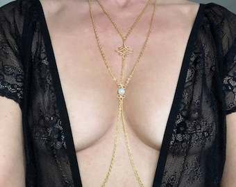 Layered Necklace Chain to Nipple rings, Deluxe Jewelry Non Piercing, Sexy Nipple clamp, Nipple Chain, Faux Nipple Jewellery, bdsm sex toys.
