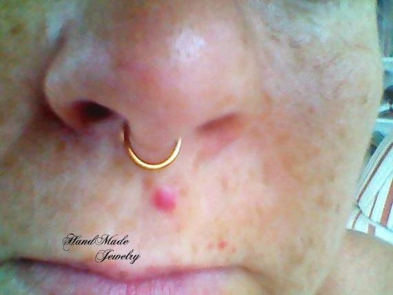 Gold//clair Piercing septum clicker Round Top