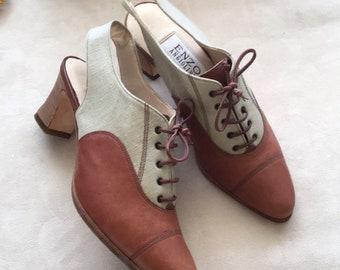 Vintage Enzo Angiolini slingback shoes pumps slides 5-5.5 womens e115529fffba