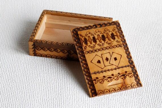 Vintage à la main sculptée carte souvenir en bois boîte multifonction mémoire boîte boîte à bijoux mariage mémoire carte boîte à bijoux organisateur, ohtteam,