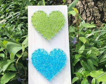 String Art Heart Sign- wooden sign - Valentine's Day gift - wedding gift