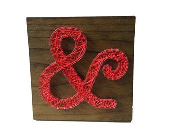 String Art Ampersand Sign - wooden sign - teens room - home decor - gift