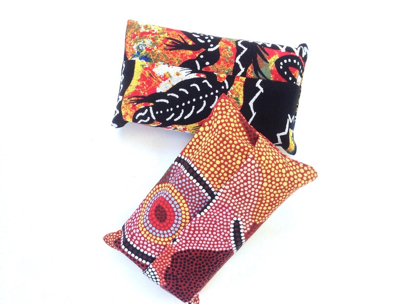 Small Tissue Cases Small Australia Gift for Traveller or Visitor Pouch Two Pocket Tissue Cases Featuring Australian Indigenous Art Design