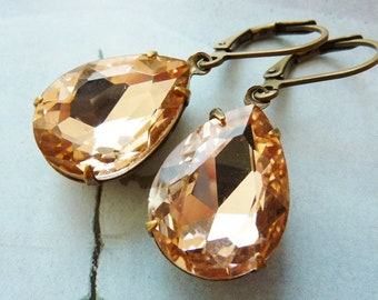 Elster Lilly's salmon pink sparkler | Earrings