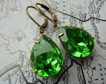 Elster Lillys green garden | Earrings