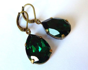 Elster Lilly's Green Sparkle Drops | Earrings