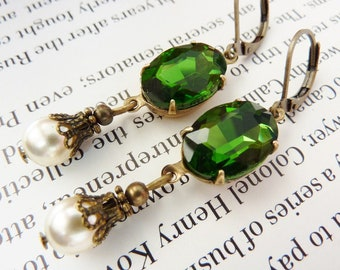 Elster Lillys olivin Baumler | Earrings