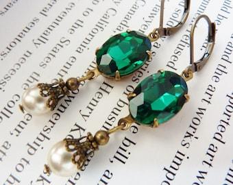 Elster Lillys emeragd Baumler | Earrings