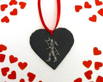 Chimney Sweep Rosewood Stapler Pewter Motif Best Man Groom Wedding Guest Gift