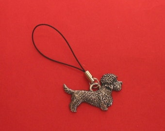 Papillon Dog Pewter Mobile Phone Charm Dad Mother Christmas Papillon Gift NEW