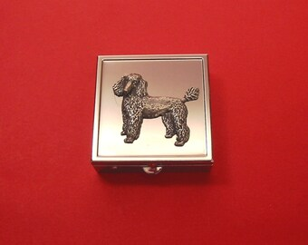 Miniature Schnauzer Dog Polished Metal Pill Box Gift