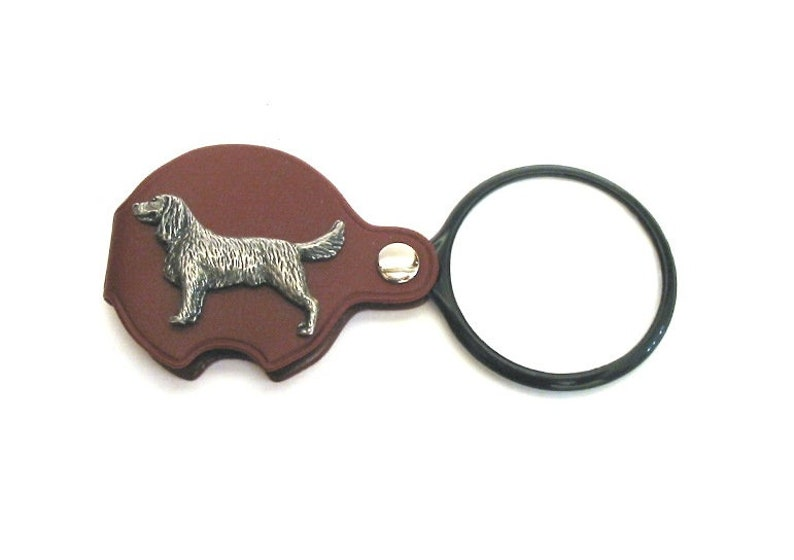Springer Spaniel Pewter Motif on PU Leather Folding Magnifying Glass Useful Mother Father Gift Christmas Gift