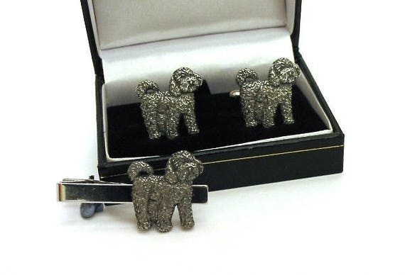 Cockapoo Design Pewter Cufflinks Tie Clip Set Gift Boxed Etsy