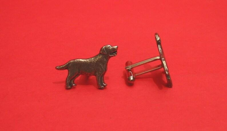 Labrador Retriever  Design Pewter Cuff-links Gift Boxed Labrador Owner Gift