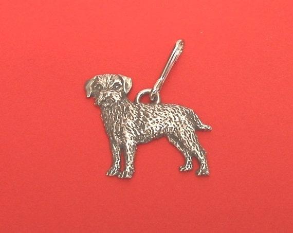 Staffordshire Bull Terrier Dog Pewter Zipper Pull Mum Dad Vet Christmas Gift NEW