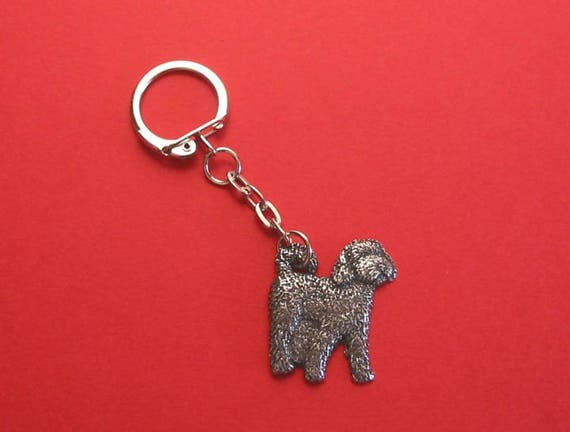 Cockapoo Pewter Motif Key Ring Father Mother Vet Christmas Dog-6026