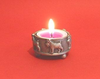 Miniature Schnauzer Pewter Tea Light Holder - Mother's Day Gift for Her - Miniature Schnauzer Gift - Schnauzer Mum Gift - Dog Mum Gift