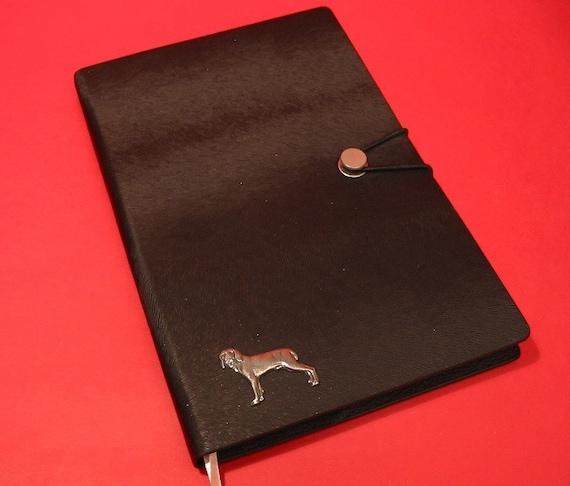 Weimaraner Dog Motif A6 Tan Journal Notebook Mother Father Christmas Gift