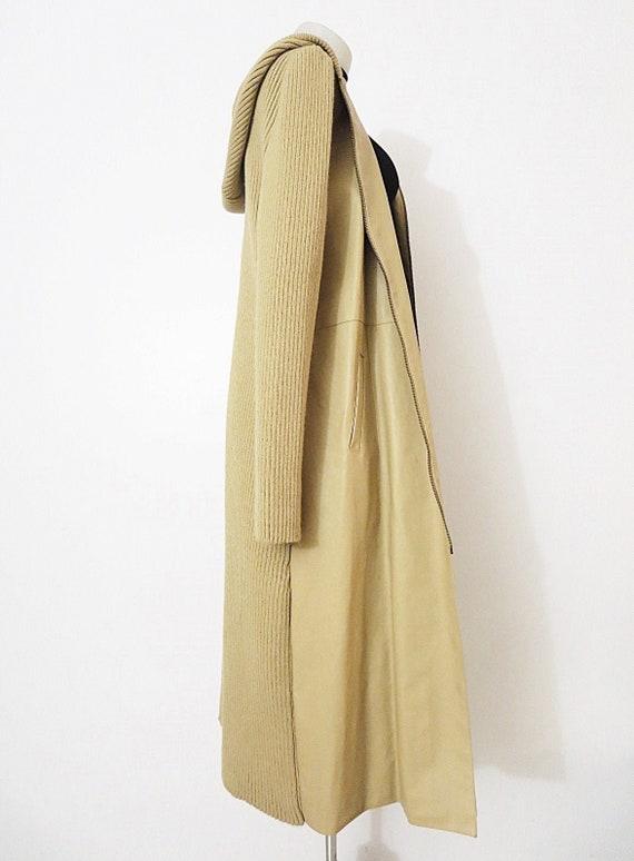 Nude Vegan Leather + Knit Cardigan - Light Jacket