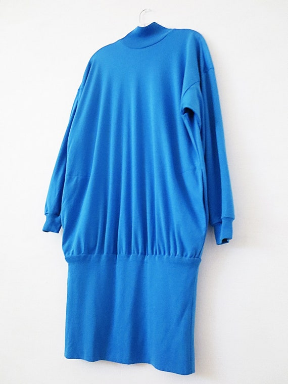 80's Vintage Dress - Oversized T Shirt - Long Sle… - image 3