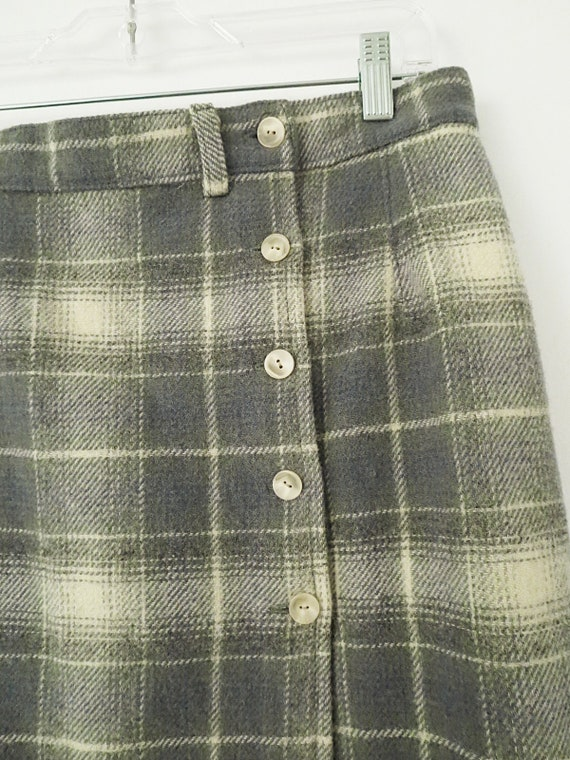 80's Vintage Woolrich Plaid Skirt - Plaid Maxi Sk… - image 3