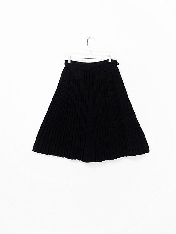 Vintage Salvatore Ferragamo Skirt - Black Pleated