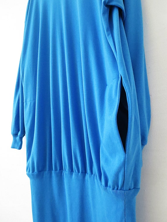 80's Vintage Dress - Oversized T Shirt - Long Sle… - image 4