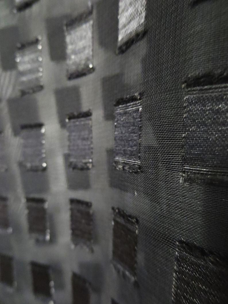 90/'s Chiffon Blouse XL Blouse Grid Pattern Blouse Oversized Blouse Vintage Sheer Tile Blouse Black Sheer Blouse Chic Blouse
