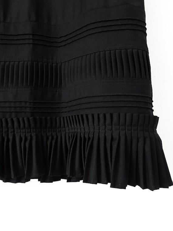 80's Vintage Pencil Skirt with Pleated Hem - Gorge