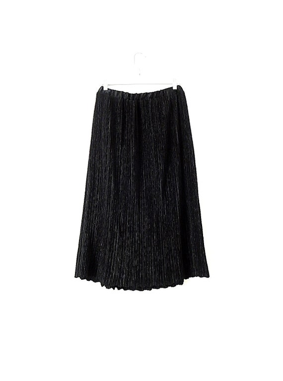 90's Vintage Micro Pleated Skirt - Satin Skirt - P