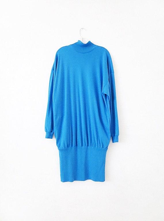 80's Vintage Sweater Dress - Oversized T Shirt - L