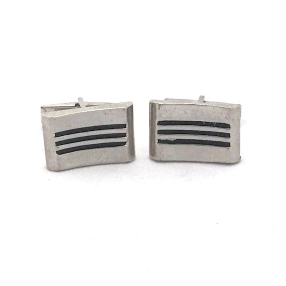 Silver /& Green Circle Design Formal Cufflinks With Gift Pouch Smart Stylish New