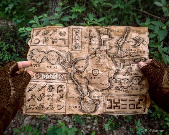Zelda Map, Hyrule Map, Termina Map, Legend of Zelda, Ocarina of Time, on