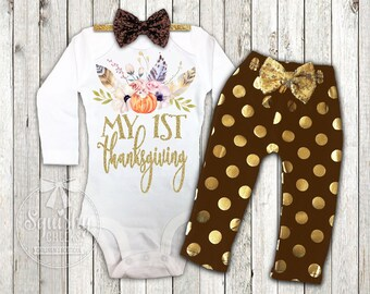 Girl s Boho 1st Thanksgiving Outfit Baby Girl Thanksgiving Outfit Infant  Thanksgiving Outfit a1a651bdabe9
