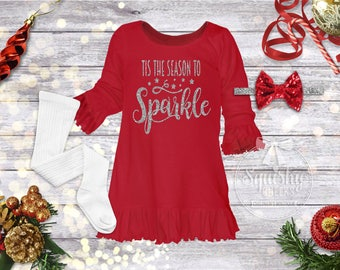 red christmas dress baby girl christmas dress sparkle christmas outfit girl christmas outfit girls holiday dress squishy cheeks