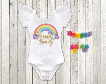f1c421b5e Rainbow baby outfit