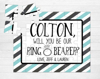 Ring Bearer Proposal Puzzle Personalized Will You Be My Ring Bearer Gift Ask Ring Bearer Puzzle Proposal