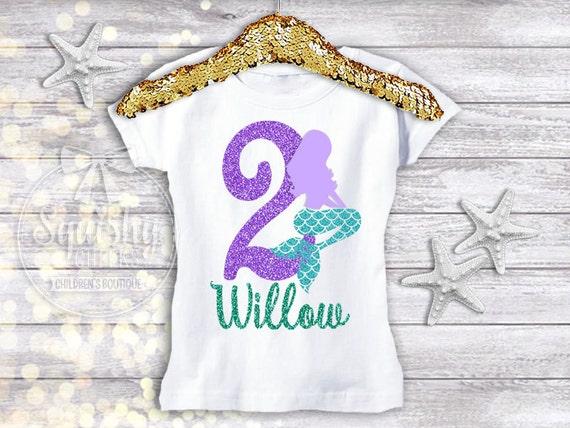 Mermaid Birthday Shirt 2nd