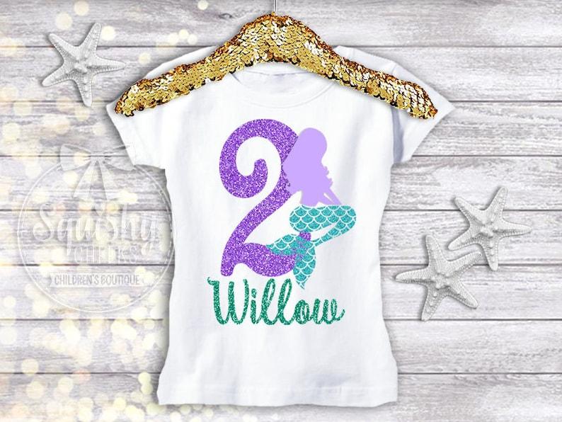 c2aeceb74 Mermaid Birthday Shirt Mermaid 2nd Birthday Mermaid Birthday