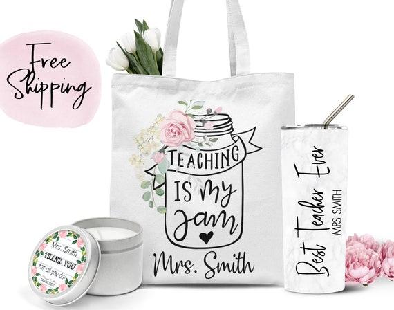 Tote bag Personalized Tote Bag Personalized Christmas Gift Teacher Christmas Gift Custom Totebag