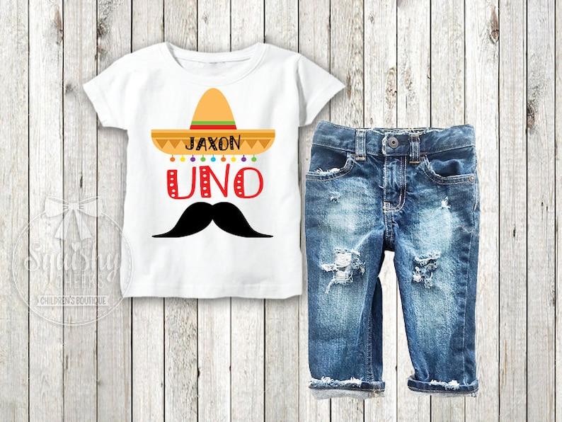 Boys Uno Personalized Birthday Shirt 1st