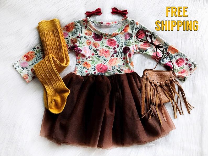 5674ad920 Girls Fall Dress Baby Girls Thanksgiving Dress Fall Birthday