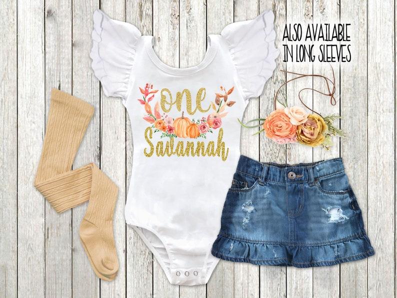 9236b1c35 Girls Fall Birthday Outfit Boho Pumpkin Patch Shirt Baby Girl