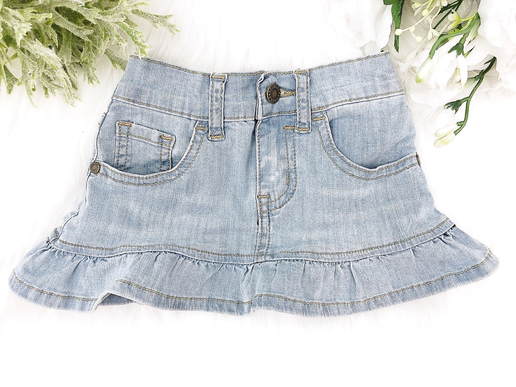 bec382d941 Stretchy Light Blue Denim Skirt – DACC