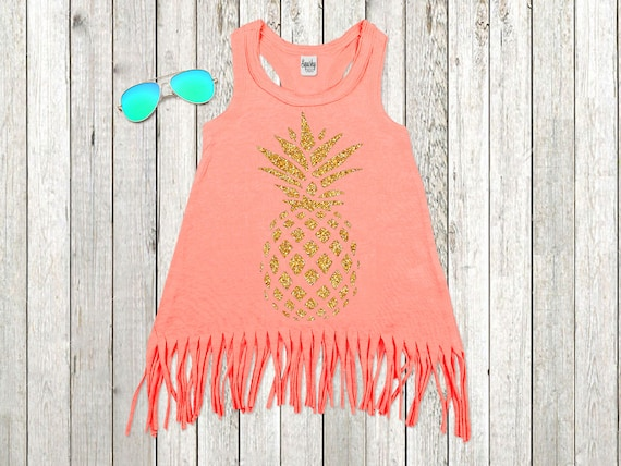 30f8abc3c9cb8 Pineapple Girls Summer Dress Pineapple Birthday Dress Boho