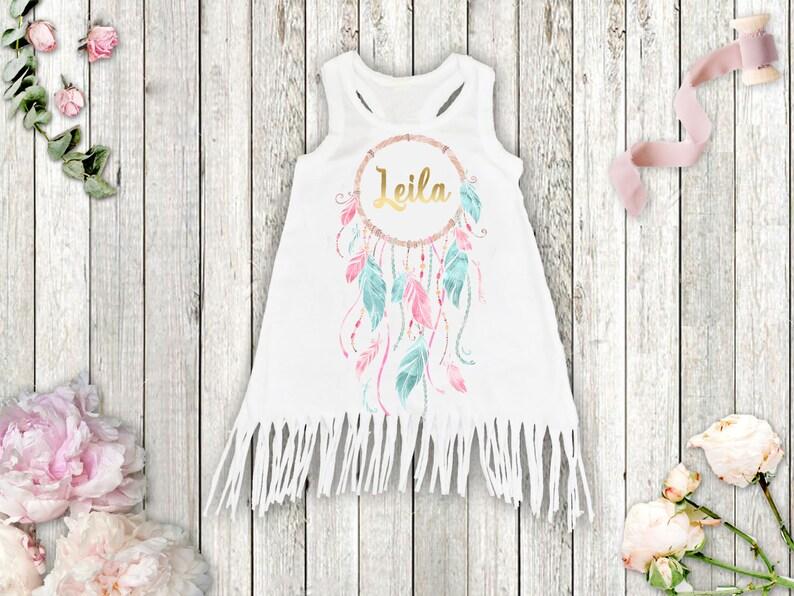 756942b7d Dream Catcher Dress Boho Girl Clothes Girl Dress Personalized