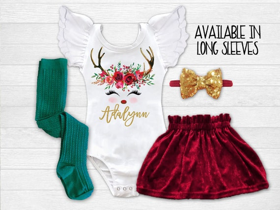 f8753c478 Personalized Christmas Outfit Girls Christmas Dress Baby Girl | Etsy