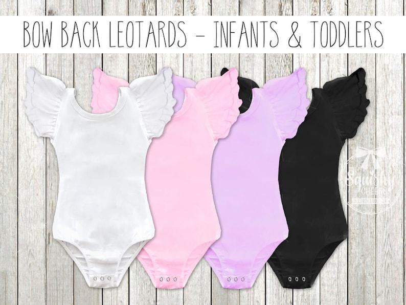 3479269cb Flutter Sleeve Bow Back Leotards Baby Leotards Leotard with